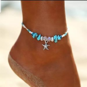 Shell/starfish ankle bracelet